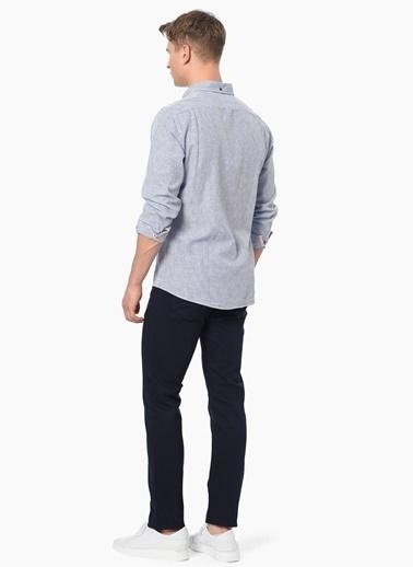 George Hogg Çizgili Uzun Kollu Gömlek Lacivert